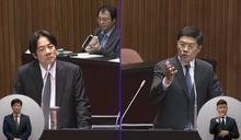 羅明才問反分裂法 賴揆:台灣主權獨立不須服膺中國法律