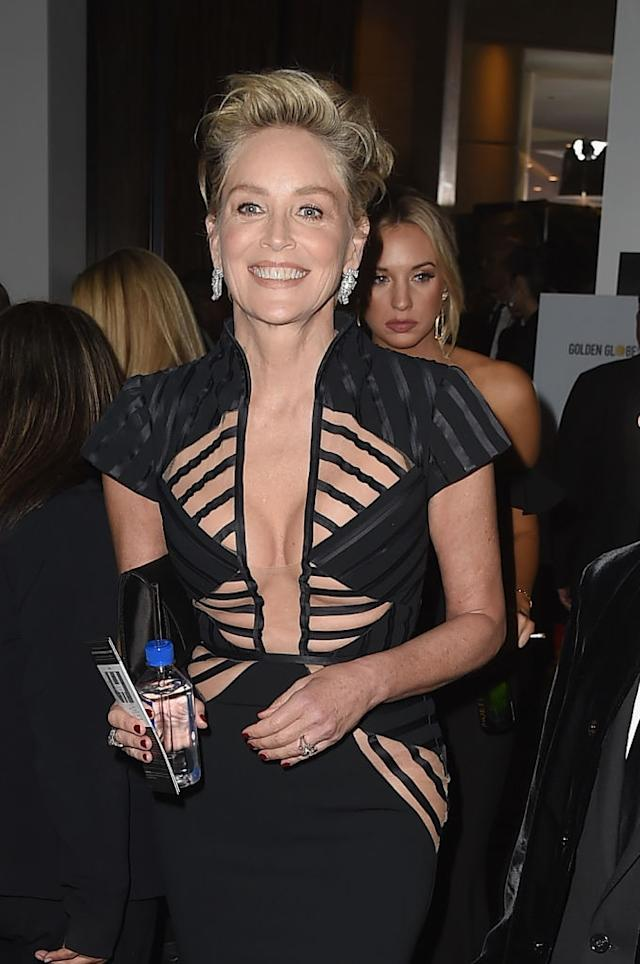 Sharon Stone at the Golden Globes 2018