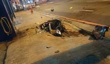 又是酒駕?賓士連闖紅燈撞死騎士 駕駛竟棄車逃