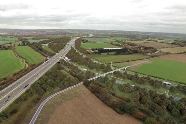 How the Crossing junction with the M25 in Essex will look (artists impression) (PA)