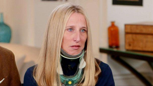 PHOTO: Anne Monoky speaks to ABC News about her recovery after being hit by a large elm tree in New York City's Central Park. (ABC News)