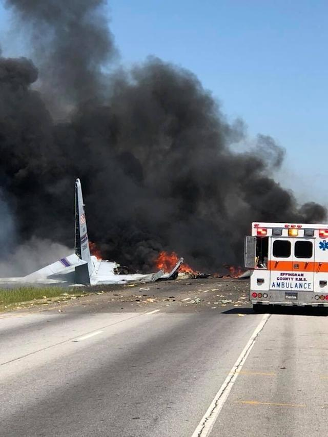 A C-130 military aircraft has crashed in Georgia.