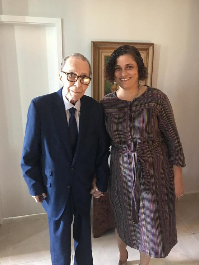 João Gilberto e Maria do Céu em imagem publicada em 2 de julho de 2019 (Foto: Reprodução/Facebook@MarceloGilberto)