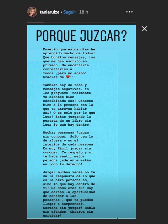 Los mensajes de Tania Ruiz