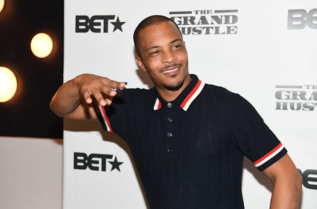"Rapper-actor Tip ""T.I."" Harris attends ""The Grand Hustle"" in Atlanta in July 2018. (Photo: Paras Griffin/Getty Images)"