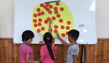 開學新祝福 花蓮家扶製蘋果樹祝學童平安