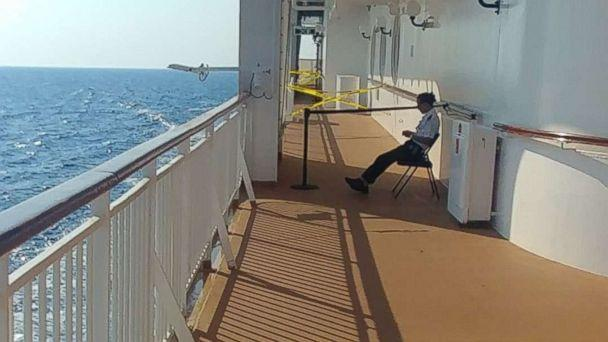 Clay Barclay, a passenger on the Norwegian Star from Alabama, shared a photo of the location where a woman fell off the ship on Sunday, Aug. 19, 2018. (Clay Barclay)