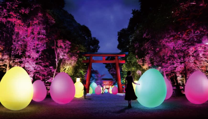 越夜越美麗!teamLab獨創光影魔術全面包圍下鴨神社