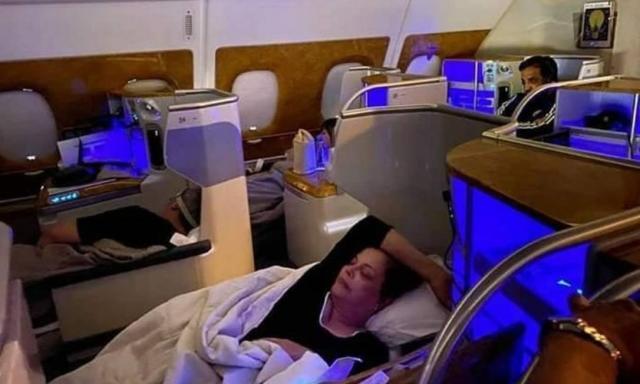 迪尔玛是在飞往迪拜的航班上拍摄的-照片:复制/社交网络