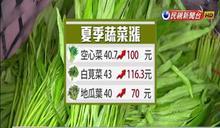 大雨+季節交替 空心菜40元漲到百元