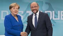 德國大選唯一電視辯論》從難民聊到川普 梅克爾支持度領先舒爾茨
