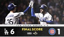 MLB》達比修好投、打擊創紀錄 道奇季後賽6連勝聽牌