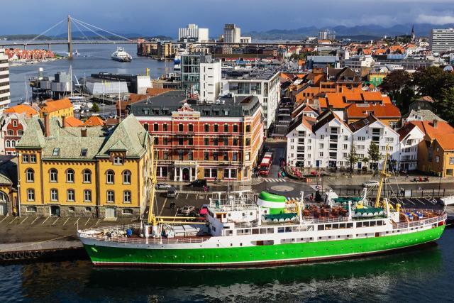 Postal de Bergen, la segunda ciudad de Noruega. Fuente de la imagen: La Nación.