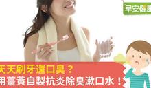 天天刷牙還口臭?用薑黃自製抗炎除臭漱口水!