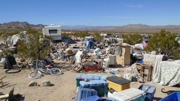Authorities in Joshua Tree, Calif., arrested the parents of three children who lived in a box amid squalor for four years on Feb. 28, 2018. (Morongo Basin Sheriff Station)
