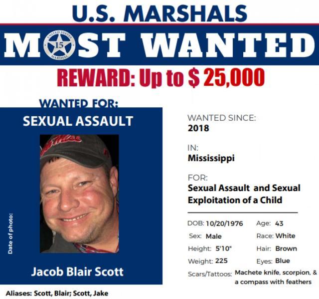 Jacob Blair Scott, circular del Cuerpo de Alguaciles de los EEUU