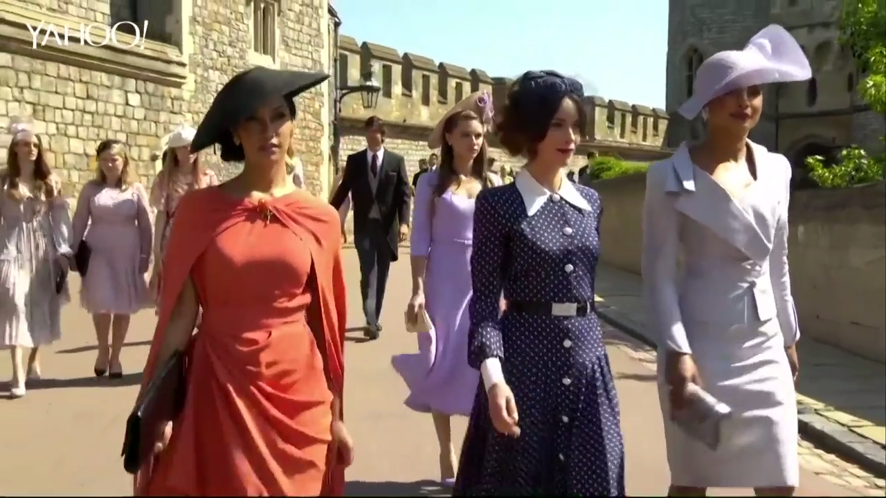 The stars of Hollywood strut into royal wedding