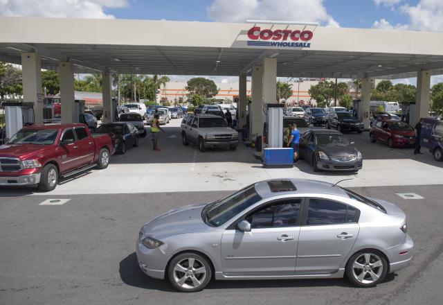 A Costco gas station in Miami, Florida.