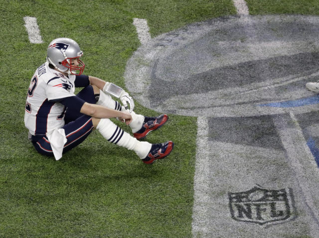 Tom Brady's 505 passing yards wasn't enough to lift the Patriots past the Eagles in Super Bowl LII on Sunday. (AP)