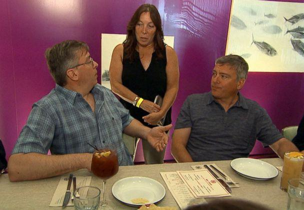 PHOTO: Doug Rausch (left) and Howard Burack (right) are seen here with Sharon Morello (center). (ABC News)