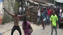 Raw: Shots Fired in Liberian Shantytown