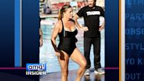 Nicole Eggert Slips Back into Her Red Bathing Suit to Make a 'Splash'