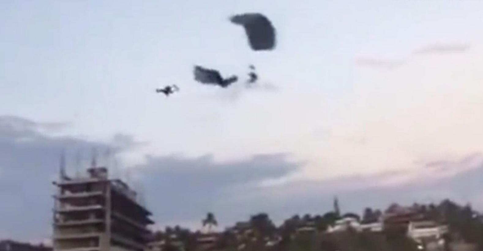 滑翔傘空中相撞 女遊客重摔地面不治