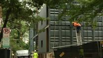 Shipping containers repurposed as affordable housing in Washington