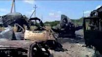 Scenes of Destruction After Battle at Donetsk Checkpoint