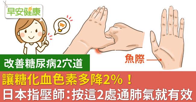 疏通經絡幫助改善血糖,日本指壓師:按這兩處就行