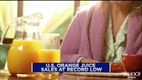Orange juice sales at record low in the U.S.