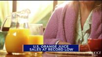 Orange juice sales at record low in the U.S.