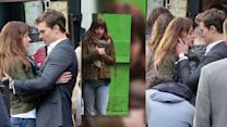 Dakota Johnson And Jamie Dornan Embrace Their Characters On Fifty Shades of Grey Set